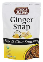 Foods Alive - Organic Flax Crackers Ginger Snap - 4 oz(pack of 2)