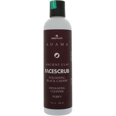 Zion Health, Adama, Ancient Clay, Face Scrub, Polishing Black Cherry, 8 fl oz (236 ml)