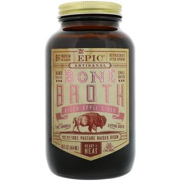 Epic Bar, Artisanal Bone Broth, Bison Apple Cider, 14 fl oz (414 ml) [Flavor : Bison Apple Cider]