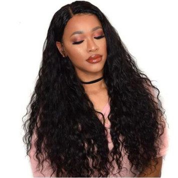 MsFan hair 360 Lace Frontal Wigs 180% Density Water Wave Human Hair Wigs with Baby Hair for Black Women Natural Color 16 inch