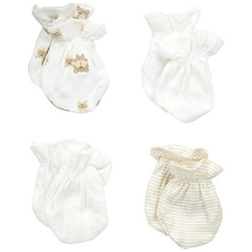 Gerber Unisex Baby 4 Pack Mittens