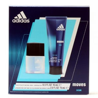 Adidas Fragrance Moves for Him Christmas 2 Piece Gift Set (0.5 Ounce Eau De Toilette Plus 2.5 Ounce Hair and Body Wash)
