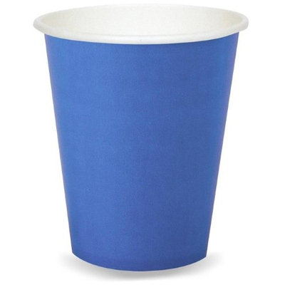 Birthday Express 260076 9 oz True Blue Paper Cups - 24 Count