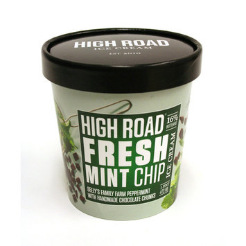 High Road Craft Ice Cream, Fresh Mint Chip, Pint (8 Count)
