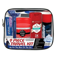 Convenience Kits Men's Deluxe, Man On the Go, 9 Piece Travel Kit [Deluxe]