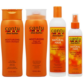Cantu Moisturizing Shampoo + Conditioner + Conditioning Hair Lotion + Coconut Mist 'Set' (Pack of 4)