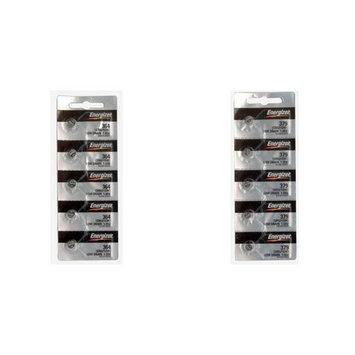 Energizer Cell Watch Batteries 364/363 SR621SW & 379/SR521SW/SR521 Kit 10 Pcs