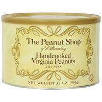 The Peanut Shop of Williamsburg Salt Free Handcooked Virginia Peanuts, 32-Ounce Tin [Salt Free]
