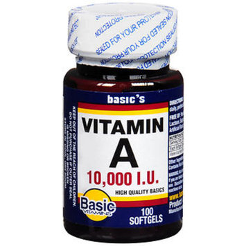 Basic Vitamins Vitamin A 10,000 IU - 100 Softgels