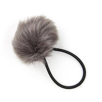 Twistband Pom Pom Hair Tie - Dove