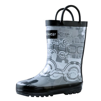 Oakiwear Kids Rain Boots For Boys Girls Toddlers Children Trains