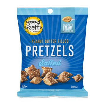 Good Health Peanut Butter Pretzels, Salted, 5 Ounce Bags (Pack of 12)