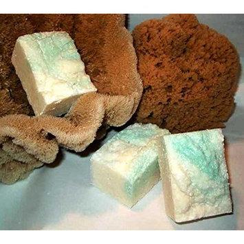 Mediterranean Lime Salt Bar - Exfoliating Sea Salt Shaving Soap