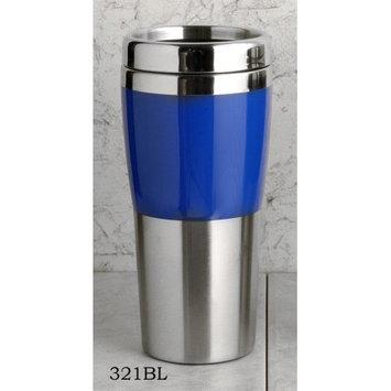 European Gift 321Bl Drinking Tumbler#44; Stainless 14Oz. Blue