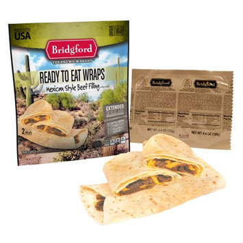 Bridgford Ready to Eat Mexican Style Beef Wrap - 1 package containing two wraps