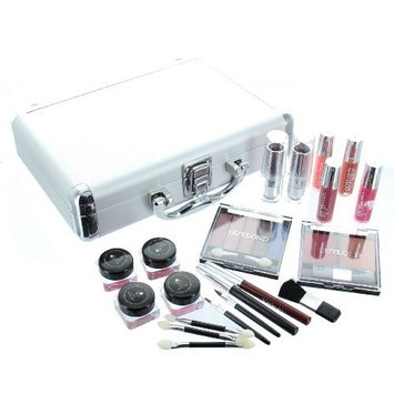 ETA Cosmetics Carry All Train Case with Makeup and Reusable Aluminum Case, Guylond by ETA Cosmetics
