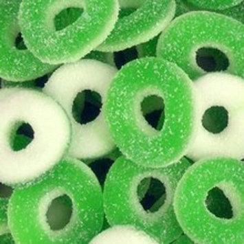 Green Apple Gummi Rings 2.5 Pounds Pounds Bag