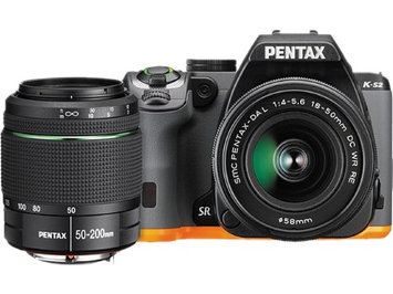 Pentax K-S2 Digital SLR Camera with 18-50mm & 50-200mm Lenses, 20.1MP, 3