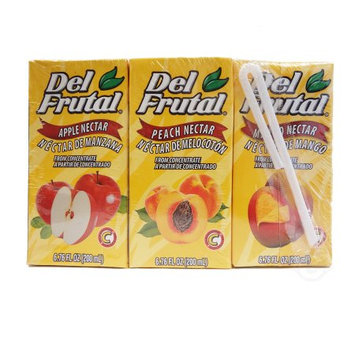 Del Frutal Mix (Apple Peach Mango) Nectar 6.76 oz (Pack of 1)