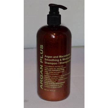 ARGAN PLUS Argan & Macadamia Smoothing & Moisturizing Shampoo 16 Fl Oz.
