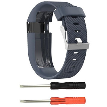 AutumnFall New Replacement Wrist Band Silicone Strap +Protector Film For Fitbit Charge HR,Strap Length:160-220mm