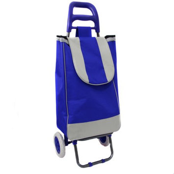 Ecworld Easy Rolling Lightweight Collapsible Shopping Cart Color: Royal Blue