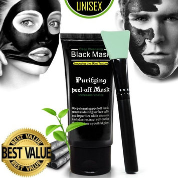 Ultimate Purifying Black Mask for Men & Women, Peel Off Blackhead Remover Face Mask for Acne, Oil Control, and Wrinkle Reduction, Includes Brush
