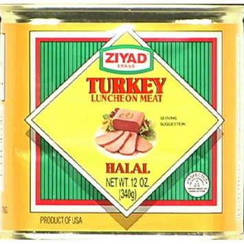 Ziyad turkey luncheon meat, Halal, 12-oz. pull top can