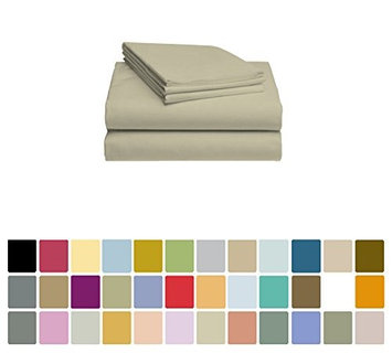 LuxClub Bamboo Sheet Set - Viscose from Bamboo - Eco Friendly, Wrinkle Free, Hypoallergenic, Antibacterial, Moisture Wicking, Fade Resistant, Silky & Softer than Cotton - Sand Dunes - California King