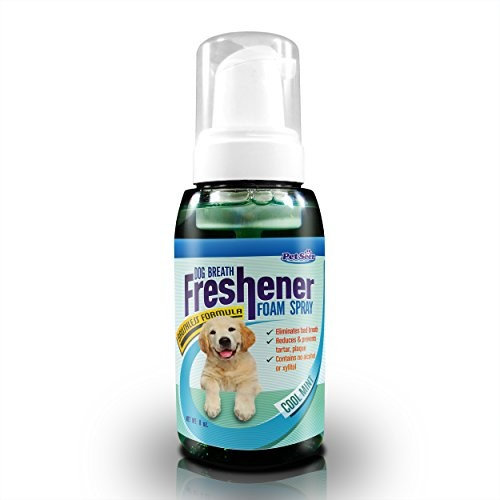 Dog Breath Freshener Oral Spray (8oz) - No Alcohol/ Xylitol Natural Pet Product - No Need Dog Toothpaste and Toothbrush for Healthy Teeth and Gum - Eliminate Dogs Bad Breath