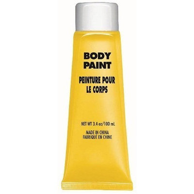 Amscan Party Perfect Team Spirit Body Paint Accessory, Yellow, Non-Toxic, 3.4 Ounces