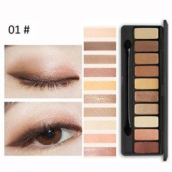 10 Colors Eyeshadow Powder,YOYORI Natural Nude Glitter Highly Pigment Eye Shadow Press Powder Mineral Professional Gel Cosmetics Eye Blush Makeup