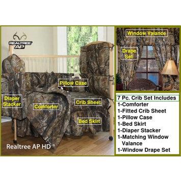 Realtree All Purpose Camo 7 Piece Baby Crib & Window Treatment Set