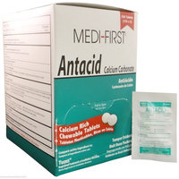Medi-First Antacid Tablets, Calcium Carbonate 420 mg 500 Tablets MS-71240