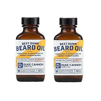 Duke Cannon Best Beard Oil, 3 Ounce - Pack of 2