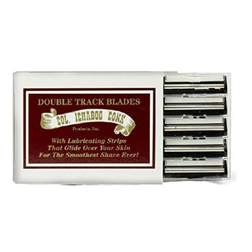 Colonel Ichabod Conk Trac II Razor Blades 10 ct. + FREE Travel Toothbrush, Color May Vary