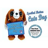 Messenger Pet SD0713 Spoiled Cute Dog 3-D Plush Window Sign - 2 Pack