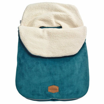 JJ Cole - Original Bundleme, Canopy Style Bunting Bag to Protect Baby from Cold and Winter Weather in Car Seats and Strollers, Teal, Infant [Infant]