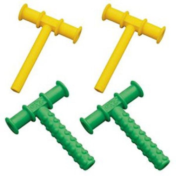 Chewy Tubes Teether, 4 Pack - Yellow/Green