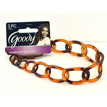 Goody Chain Link Flexible Fit Head Band - Tortoise - 1 Pc.
