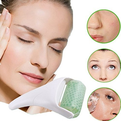 JIAHAO Ice Skin Cool Derma Roller Massager For Face Body Massage Facial Skin Care Tool