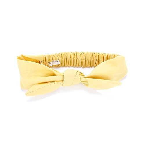 Peppercorn Kids Bow Tie-Up Headwrap - Solid - Yellow