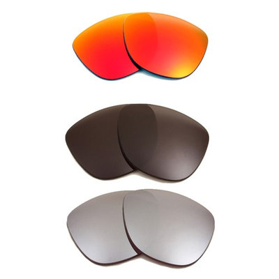 Best SEEK Polarized Replacement Lenses for Oakley FROGSKINS Black Red Silver