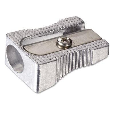 Officemate Metal Pencil Sharpener, Metallic Silver, 4/Pack