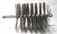 TOUGH GUY 3EDH6 Flue Brush, Dia 3 1/4,1/4 MNPT, Length 8