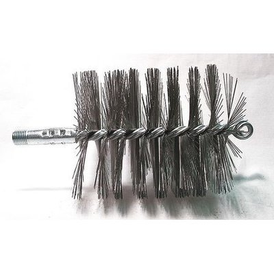 TOUGH GUY 3EDH6 Flue Brush, Dia 3 1/4,1/4 MNPT, Length 8