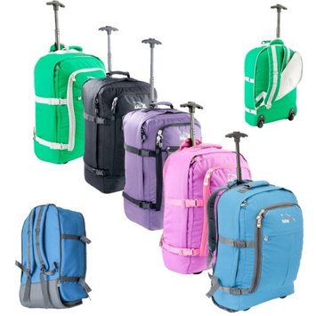 Cabin Max Lyon Flight Approved Bag Wheeled Hand Luggage - Carry on Trolley Backpack 44L 55x40x20cm