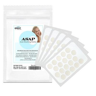 ASAP Hydrocolloid Acne Patches   100 Total Acne Pimple Patches   20 Patches (5 Sheets)   Acne Treatment   Quest Skincare