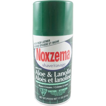 Medicated Shave Cream with Aloe And Lanolin By Noxzema for Men Shave Cream, 11 Ounce