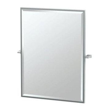 Gatco Bleu 28 in. x 33 in. Framed Single Large Rectangle Mirror in Chrome